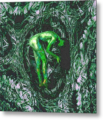 Metal Print featuring the painting Gaia Earthly Goddess Nymph Farie Mother Earth Fine Art Print by David Mckinney