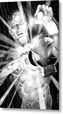 Green Lantern Metal Print by Ken Branch