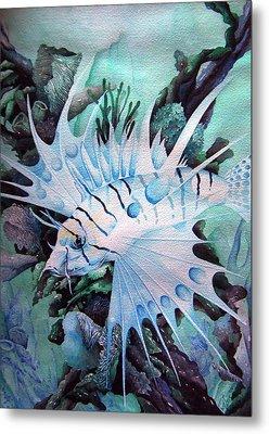 Green Lionfish Metal Print