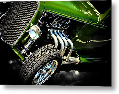 Classic Car Metal Print featuring the photograph Green Machine  by Aaron Berg
