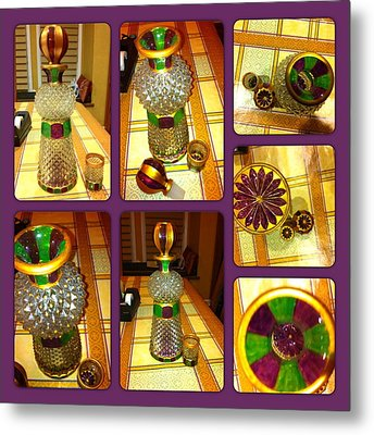 Green N' Purple Metal Print by Rae Chichilnitsky