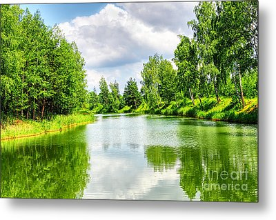 Metal Print featuring the photograph Green Nature by Boon Mee