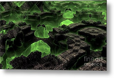 Green Odyssey Metal Print by Bernard MICHEL
