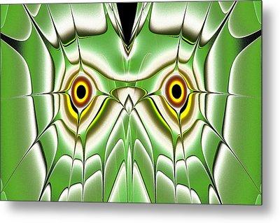 Green Owl Metal Print by Anastasiya Malakhova