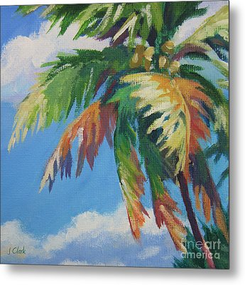 Green Palm  Metal Print by John Clark