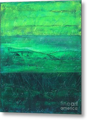 Metal Print featuring the painting Green Pastures by Jocelyn Friis