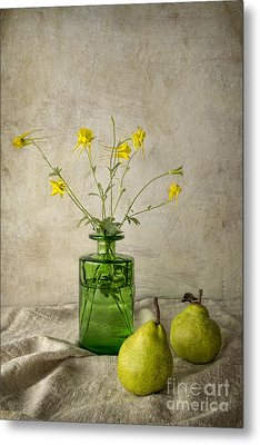 Green Pears Metal Print by Elena Nosyreva