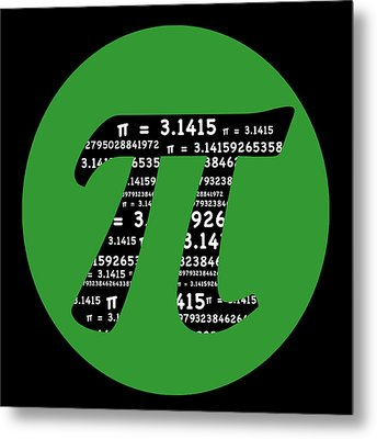 Green Pi Metal Print by Marianne Campolongo