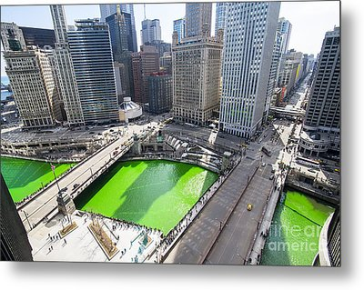 Green River Chicago Metal Print by Jeff Lewis
