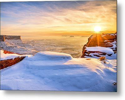 Green River Snow Metal Print