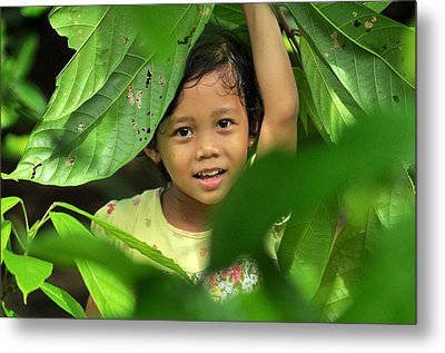 Green Smile Metal Print by Achmad Bachtiar