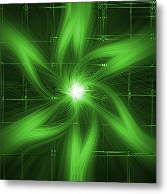 Metal Print featuring the digital art Green Swirl by Maggy Marsh