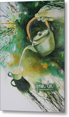 Green Tea Metal Print by Adel Nemeth