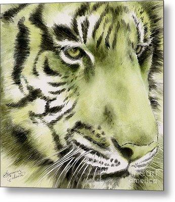 Green Tiger Metal Print