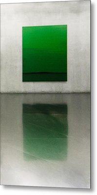 Green Metal Print by Toni Guerra