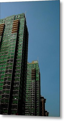 Green Vancouver Towers Metal Print