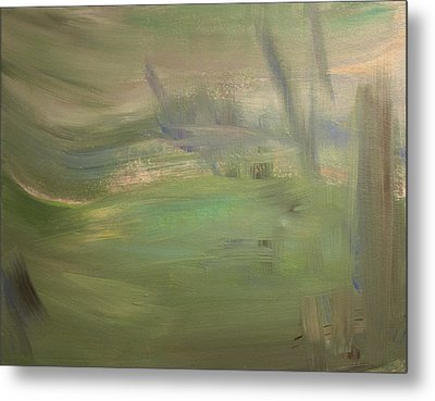 Green Wind Metal Print by Tanya Byrd