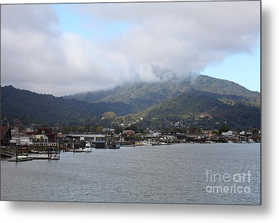Greenbrae California Boathouses At The Base Of Mount Tamalpais 5d29350 Metal Print by Wingsdomain Art and Photography