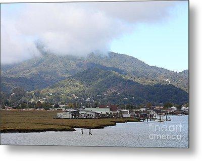 Greenbrae California Boathouses At The Base Of Mount Tamalpais 5d293506 Metal Print