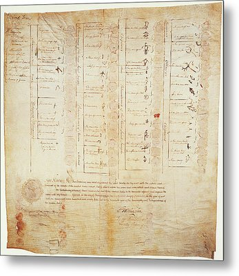 Greenville Treaty, 1795 Metal Print