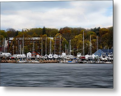 Greenwich Harbor Metal Print by Lourry Legarde