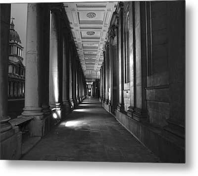 Greenwich Royal Naval College Hdr Bw Metal Print by David French