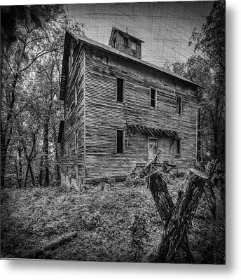 Greer Mill Black And White Metal Print