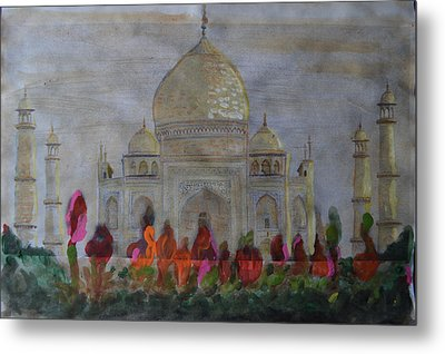 Greeting From The Taj Metal Print by Vikram Singh