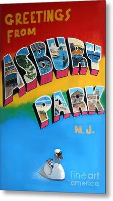 Greetings From Asbury Park Metal Print