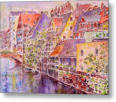 Metal Print featuring the painting Greetings From Nuremberg by Alfred Motzer