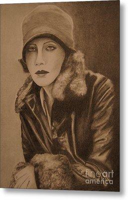 Greta Garbo Metal Print by Lorelle Gromus