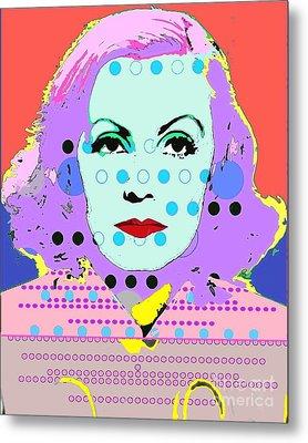 Greta Garbo Metal Print by Ricky Sencion