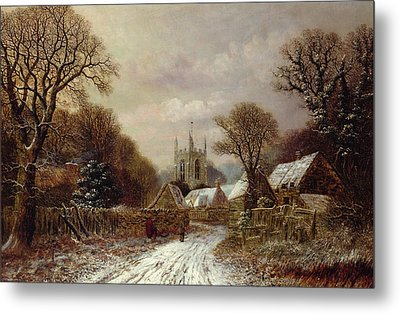 Gretton In Northamptonshire Metal Print by Charles Leaver