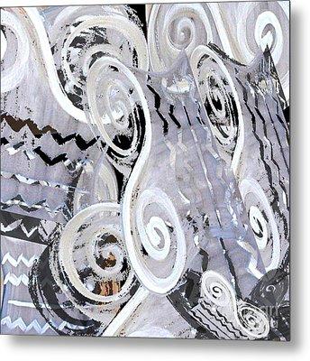 Grey Abstraction 1 Metal Print by Eva-Maria Becker
