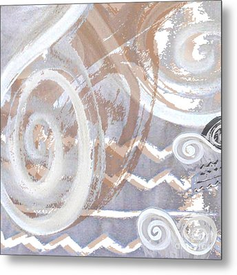 Grey Abstraction 2 Metal Print by Eva-Maria Becker