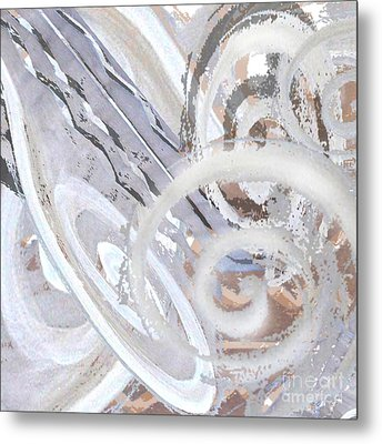 Grey Abstraction 3 Metal Print by Eva-Maria Becker