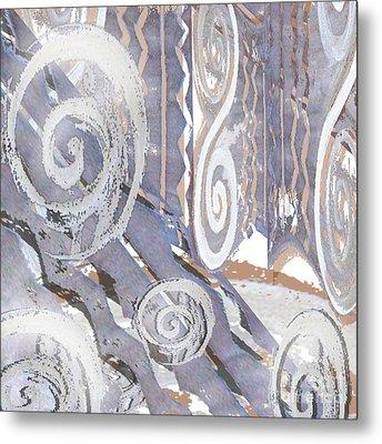 Grey Abstraction 4 Metal Print by Eva-Maria Becker