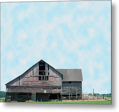 Metal Print featuring the photograph Grey Barn by Gena Weiser