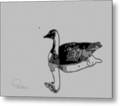 Metal Print featuring the photograph Grey Goose by Ludwig Keck