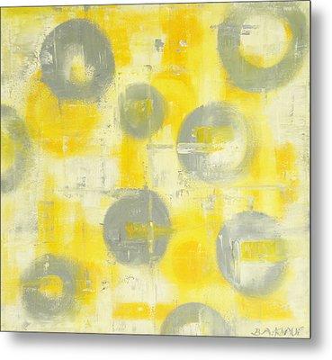 Grey Spheres Metal Print by Barbara Anna Knauf