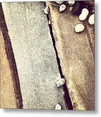 Grey Stone Abstract Metal Print by Christy Beckwith