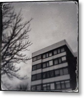 Grey Urban Architecture Metal Print