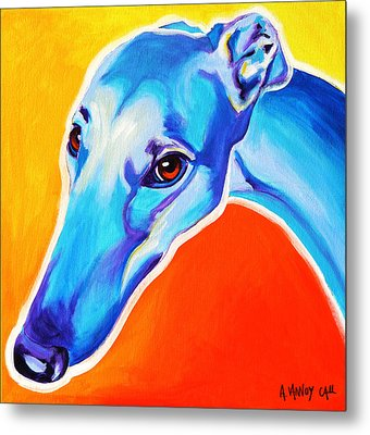 Greyhound - Lizzie Metal Print by Alicia VanNoy Call