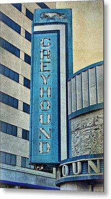 Greyhound Sign Metal Print by Sandy Keeton