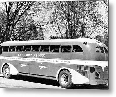 Greyhound X-1 Super Coach Bus Metal Print by Underwood Archives