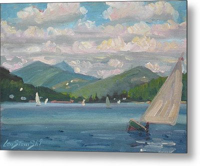 Greylock From Pontoosuc Lake Metal Print by Len Stomski