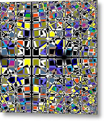 Grid Metal Print by Barbara Moignard