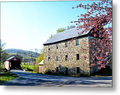 Griesemer's Mill And Covered Bridge Metal Print