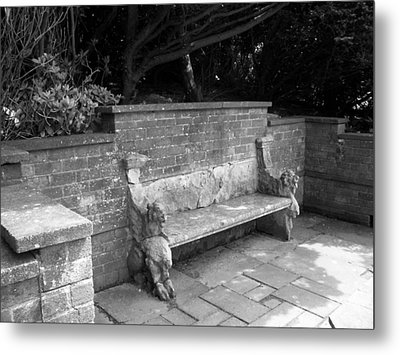 Griffin Bench Metal Print by Katie Beougher