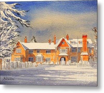 Griffin House School - Snowy Day Metal Print by Bill Holkham